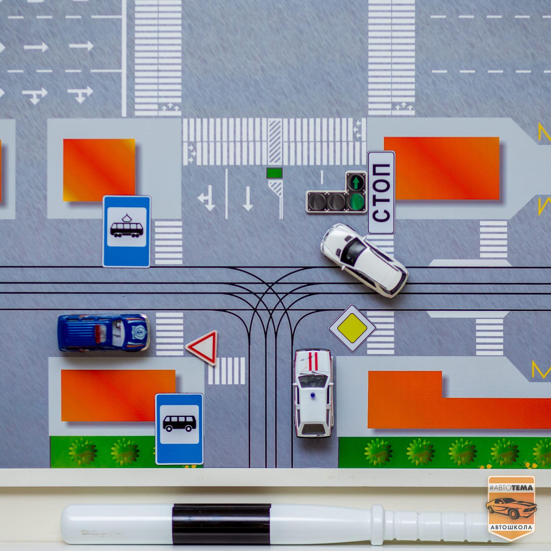Карта курсов дорожного движения